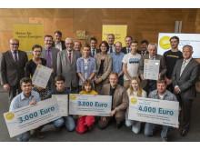 Foto: Die Preisträger des Bürgerenergiepreises Unterfranken 2015