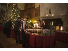 Julbordet står uppdukat på Tjolöholms Slott