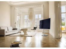 Loewe Art UHD har ett bra ljud trots den slimmade designen.