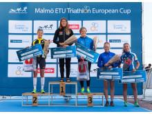 Vinnare Dam elit Danske Invest Triathlon Series