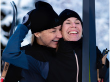 Kristin Kaspersen och Magdalena Forsberg ska åka Vasaloppet 2020 Foto Sofia Kallner