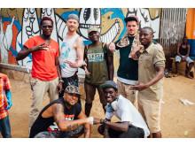 Künstler der Millerntor Gallery in Uganda: Björn Holzweg, Bobbie Serrano, Oibel, Jobray Writer, Destreet Art