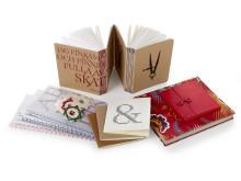 Papper och stygn - Anteckningsböcker, kassett och tygklätt omslag