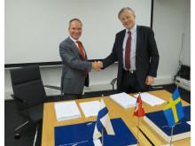 Signering 2015-05-12_RUAG förvärvar Patrias rymdverksamhet
