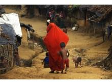 Statslösa i provisoriskt läger i Bangladesh
