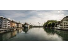 Solothurn: Sicht über die Aare auf die Altstadt