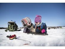 Isfiske, Storsjön Jämtland Härjedalen