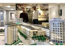 Legomodell över Danderyds Centrum