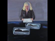Lena Cronqvist, Framkallning, 2001, 142x137cm, olja och tempera på duk