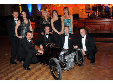 Morgan team and the mini Morgan they donated to the auction