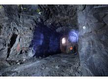 Äspölaboratoriet, inmätning av ny tunnel