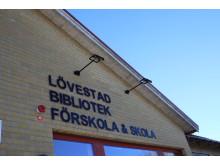 Lövestad bibliotek, skola och förskola
