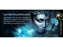 Eye of Horus Teal Malachite Goddess Pencil