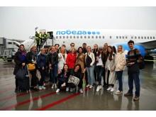 Neben den offiziellen Fluggästen reisten auch Medienvertreter und Blogger mit, die in den nächsten Tagen Leipzig touristisch erkundeten