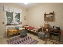 Folkhemslägenheten, sovrum Foto: Karolina Kristensson, Nordiska museet