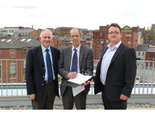 Cllr Ashley Dearnley, Cllr Colin Lambert and Cllr Andy Kelly sign the election pledge.