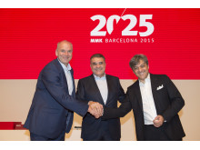 Jürgen Stackmann, outgoing SEAT Executive Committee Chairman; Dr. Francisco Javier García Sanz, Board of Directors Chairman; and Luca de Meo, new Executive Committee Chairman