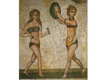 """""""Bikiniflickorna"""" Villa del Casale, Piazza Armerina, Sicilien."""