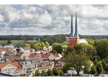 Vy över Växjö och domkyrkan. Foto: Mats Samuelsson