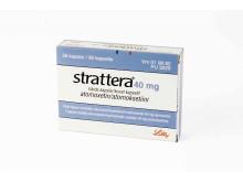 Strattera 40 mg förpackning