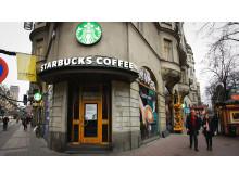 Fasad - Starbucks Stureplan - Stockholm