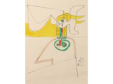 Taureau Vl, 1964, Le Corbusier.  ©FLC/BONO,Oslo kommunes kunstsamling.