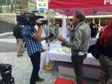 TV på Pestaurant i Stockholm
