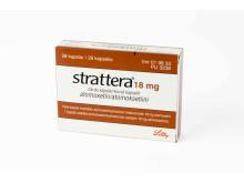 Strattera 18 mg förpackning
