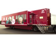 Blodcentralen Skånes nya blodgivningstrailer
