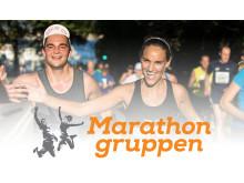 Marathongruppen med logo