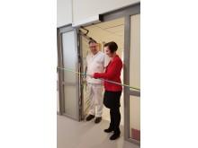 Invigning av urologmottagningens nya lokaler, Ove Andrén och Karin Sundin.