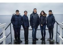 Johan Glennmo, CEO of Danir, together with Young Sea Ambassadors.