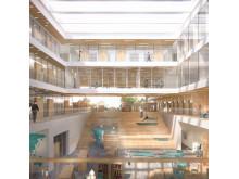 FOJAB Kunskaps- & Kulturcentrum Falkenberg Bibliotek Interiör