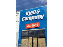 Kjell & Companys outletportal före öppning