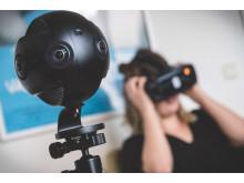 VR-teknik: 360-graderskamera och VR-headset