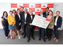 Santander-Woche 2017 Übergabe Spende