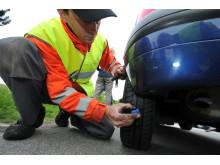 Mønsterdybde- og dæktrykkontrol