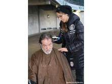 Zenturio Lena Müller-Petzold im Einsatz als Barber Angel