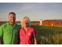 Magnus Johansson och Lena Lindahl från Nibble gårdsgris. Nominerade till Årets klimatbonde.