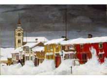 Gate i Røros/Street in Røros,1903, Harald Sohlberg