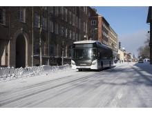 Batterieelektrischer Scania Bus in Östersund