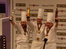 Gold, Silber und Bronze – Mathew Peters (USA), Christopher William Davidsen (Norwegen) und Viktor Andrésson (Island) freuen sich über ihre Trophäen