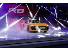 The new Audi R8 V10 plus on the Geneva Motorshow 2015