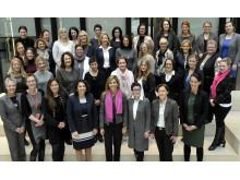 Teilnehmerinnen des vierten Round Table für weibliche Führungskräfte bei Santander