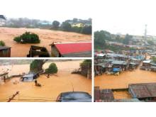 Översvämningskatastrof i Freetown Sierra Leone