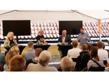 #Backademokratin: Patrik Oksanen (Politisk redaktör, Mittmedia), Torbjörn Sjöström (VD, Novus) och Sofia Arkelsten (Riksdagsledamot, Moderaterna)