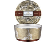 Gilt Pomander & Hinoki - 3 Wick Pedestal Candle in Dec Tin