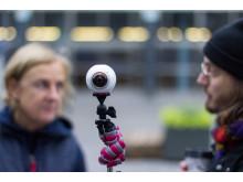 Inspelning av VR-filmer för fobibehandling