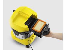 Kärcher grovstøvsuger detalj filterkassett