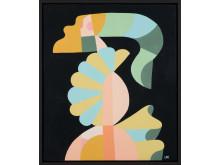 Liselotte Watkins, Volando, 2018, akryl och lack på duk, 60 x 70 cm